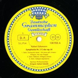 DE DGG SLPM138 955 クーベリック シューマン・交響…