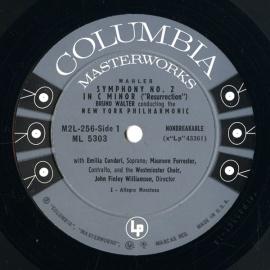 US COL M2L 256 ワルター マーラー・交響曲2番「復活」