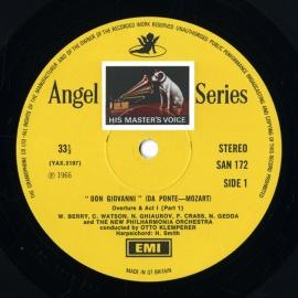 GB EMI SAN172-5 クレンペラー モーツァルト「ドン・ジ…