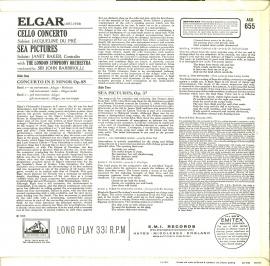 GB EMI ASD655 デュプレ・バルビローリ・ロンドン響 エル…
