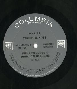US COL M2S676 ワルター・コロムビア響 GUSTAV M…