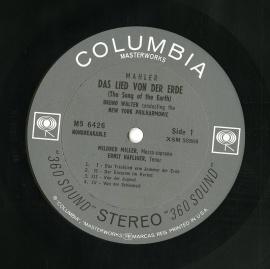 US COL MS6426 ワルター・ニユーヨークフィル MAHLE…