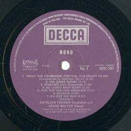 GB DEC 6BB197-8 キャスリーン・フェリア&ブル…
