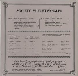 FR SWF SWF8602 フルトヴェングラー 生誕百年記念