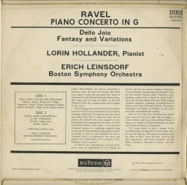 GB RCA SB6546 ロリン・ホランダー ラヴェル・ピアノ協奏…