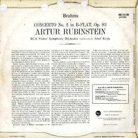 GB RCA RB16185 ルービンシュタイン ブラームス・ピアノ…