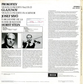 GB DEC SXL6532 シーヴォ プロコフィエフ・ヴァイオリン…