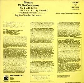 GB EMI ASD3639 スピヴァコフ モーツァルト・ヴァイオリ…