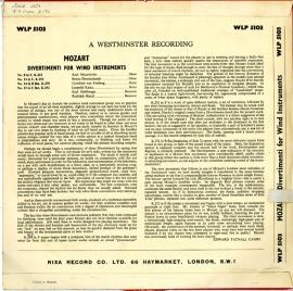 GB NIXA WLP5103 ハンツル モーツァルト・ディベルティ…