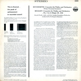 US EVE SDBR3040 フックス ヒンデミット・ヴァイオリン…