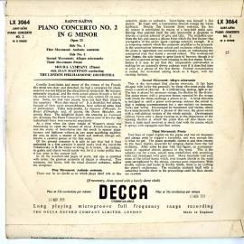 GB DEC LX3064 モーラ・リンパニー サンサーンス・ピアノ…