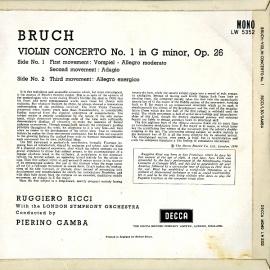 GB DEC LW5352 リッチ ブルッフ・ヴァイオリン協奏曲1番
