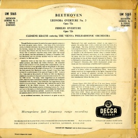 GB DEC LW5165 クラウス ベートヴェン・レオノーレ3番