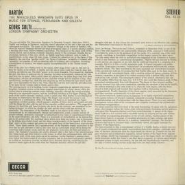 GB DEC SXL6111 ショルティ バルトーク・弦楽器&打楽器…