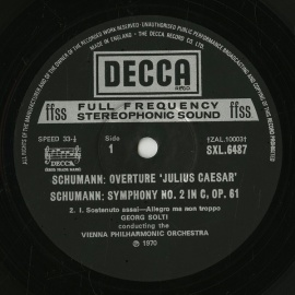 GB DEC SXL6487 ショルティ シューマン・交響曲2番