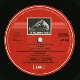 GB EMI ASD3430 パールマン&ズーカーマン Duets …