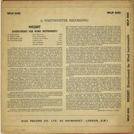 GB NIXA WLP5103 ウィーン管楽奏者 モーツァルト・ディ…