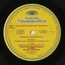 FR DGG 413 865-1 ロストロポーヴィチ チェロ協奏曲集…