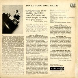 GB RCA SB6630 ロナルド・スミス トゥリーニ ピアノ名曲撰