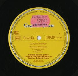 FR DGG 2542 203 ベーレント ロドリーゴ・ギターと管弦…