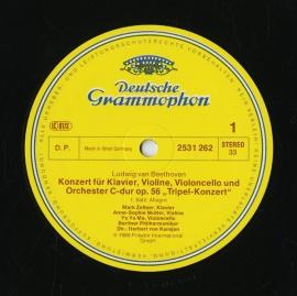DE DGG 2531 262 カラヤン ベートーヴェン・ピアノ、ヴ…