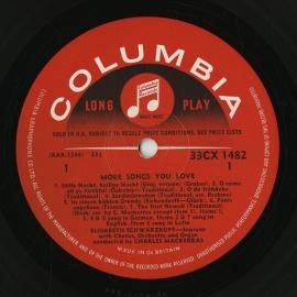 GB COL CX1482 シュヴァルツコップ MORE SONGS…