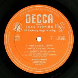 GB DEC LXT6235 リチャード・ボニング 19世紀の序曲集…