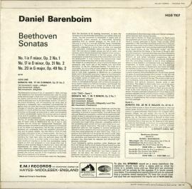 GB EMI HQS1107 バレンボイム ベートーヴェン・ピアノソ…