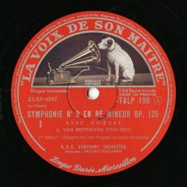 FR VSM FALP190-1 トスカニーニ ベートーヴェン・交響…