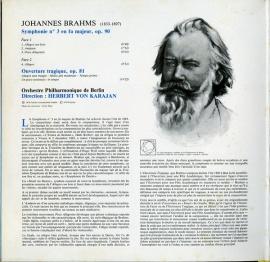 FR DGG 2531 133カラヤン ブラームス・交響曲3番