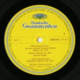 FR DGG 139 014カラヤン J.シュトラウス・ワル…