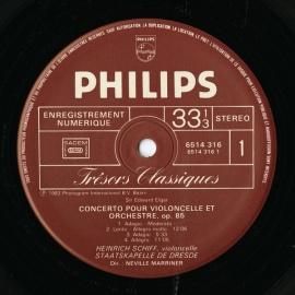 FR PHIL 6514 316シフ エルガー・チェロ協奏曲