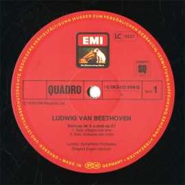 DE EMI 1C063-02 959ヨッフム ベートーヴェ…