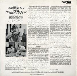 GB RCA ARL1 0781フォドアチャイコフスキー・ヴ…
